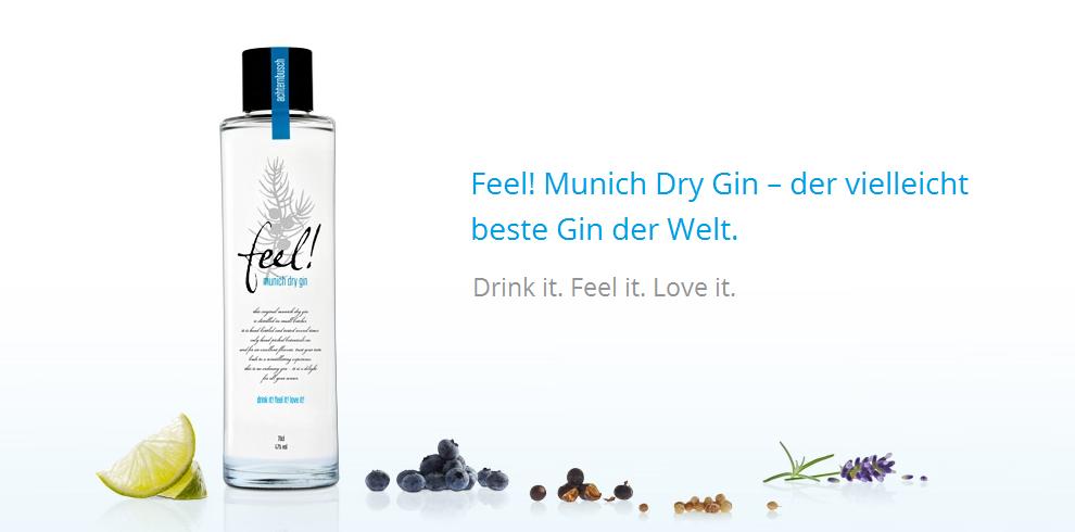 Feel! Munich Dry Gin Banner